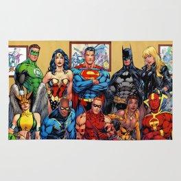 Superman Green Lantern Comic Rug