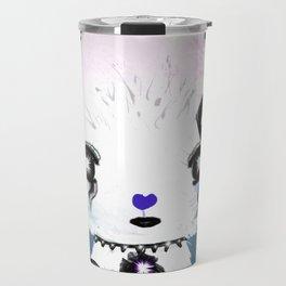 Punky Persian - Dark Blue Travel Mug