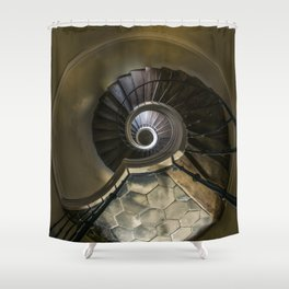 Circles and spirals Shower Curtain