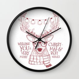 Wishing you a very Merry Christmas Wall Clock