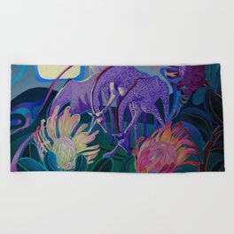Moonlight dances Beach Towel