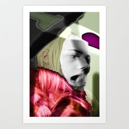 clown lover Art Print
