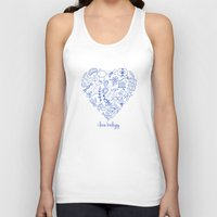 biology Tank Tops featuring i heart biology by lucylamplight