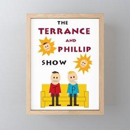 The Terrance and Phillip Show Poster on T-shirt Framed Mini Art Print