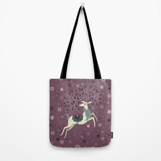 Prancing Reindeer Tote Bag