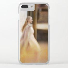 Walking woman 5 Clear iPhone Case