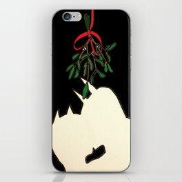 mistletoe kiss iPhone Skin