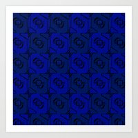 blueprint Art Prints featuring Blueprint by This N That