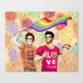 Sterek Pride Print Canvas Print