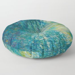Claude Monet Morning on the Seine Oil Paintng Floor Pillow