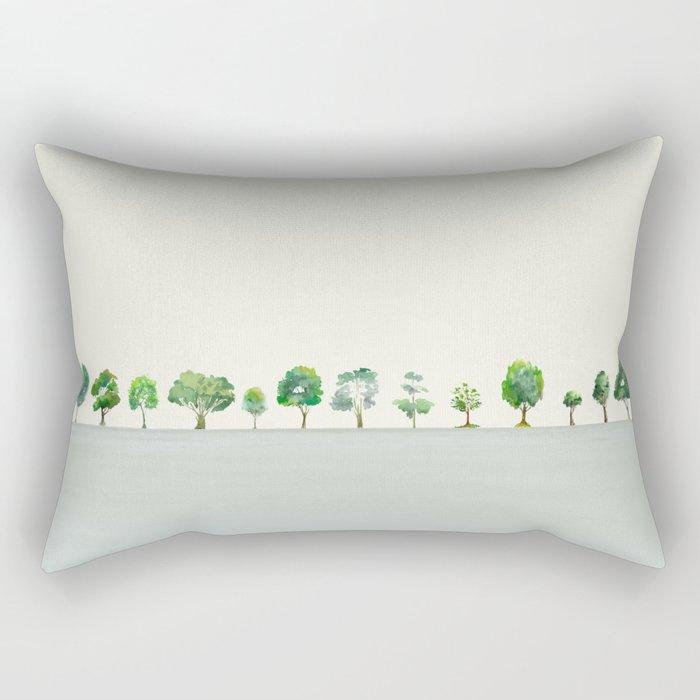 A Row Of Trees Rectangular Pillow