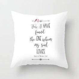 Song of Solomon 3:4 Throw Pillow