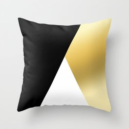 Elegant gold and black geometric design Throw Pillow