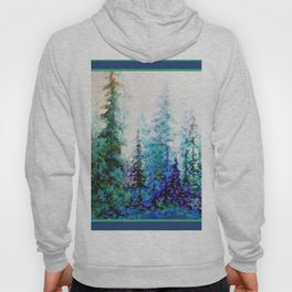 Blue Mountain Landscape Pines In Blue-Greens Hoody