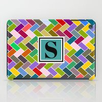 monogram iPad Cases featuring S Monogram by mailboxdisco