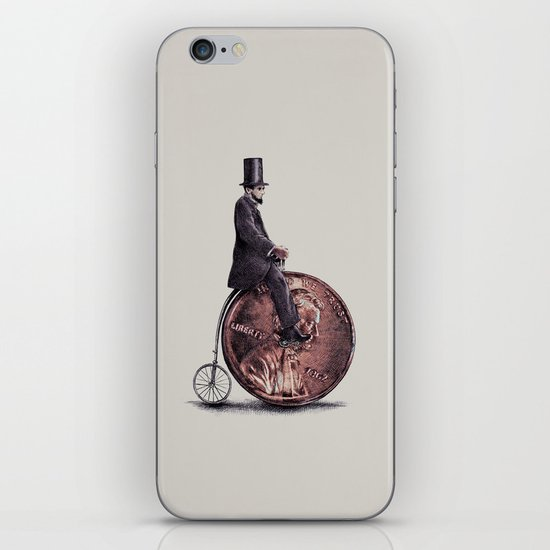 Penny Farthing (grey option) iPhone & iPod Skin