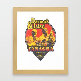 Darmok and Jalad at Tanagra - Sunset Framed Art Print