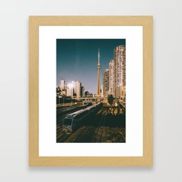 Toronto Tracks Framed Art Print