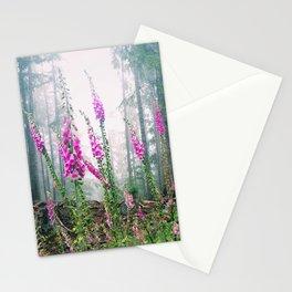 Wild Flowers.Foxglove.Forest.Mist.Fog.Pink.Washington.Olympic Peninsula. Stationery Cards