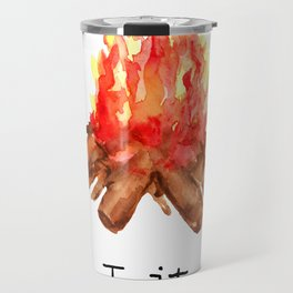Lit Campfire Summer Camping Travel Mug