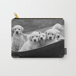 Labs Puppies In A Wheelbarrow Carry-All Pouch