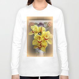 On...In Front Of...A Pedestal Long Sleeve T-shirt