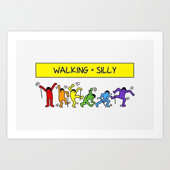Pop Shop Silly Walks Art Print