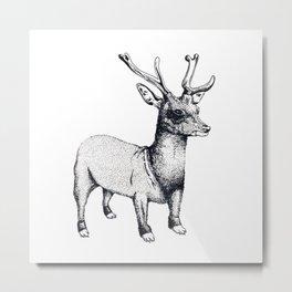 Cerf-Chien Metal Print
