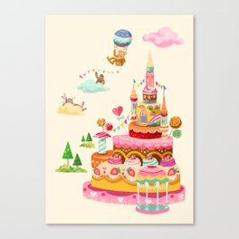 Ice Cream Castles In The Air Canvas Print