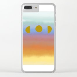 Sunset Moonrise Clear iPhone Case