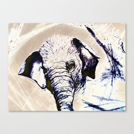 Abstract Elephant for Mom Canvas Print