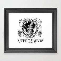 Vita Brevis Framed Art Print