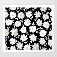 daisies Art Prints featuring Daisies by leah reena goren
