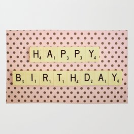 Happy Birthday Rug