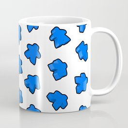 Dark Blue Meeple Mania Pattern Coffee Mug