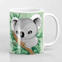 Koala Baby on the Eucalypt Branch Coffee Mug