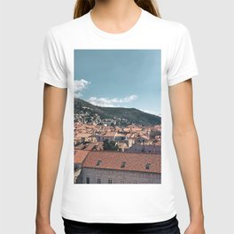 Dubrovnik Old Town Roofs   Croatia Travel Photography T-shirt