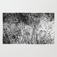 leaves Area & Throw Rugs featuring Branches & Leaves by David Bastidas
