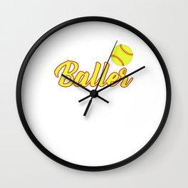 Just A Baller From Montana Wall Clock