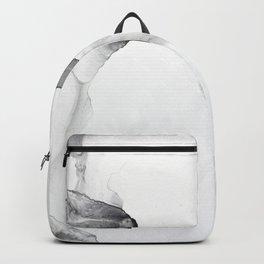 BLACK & WHITE INK WALL ART | WHITE MARBLE Backpack