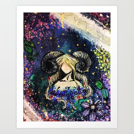 Faceless Aries Art Print