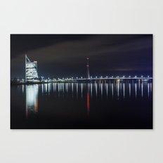 Bridge at evening Canvas Print