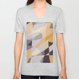 Purple and Gold (XI) Abstract Unisex V-Neck
