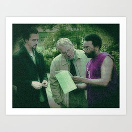 A Script For Ed & Philip By A Spike Art Print