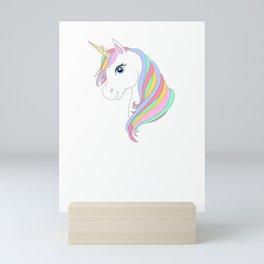 Unicorn cartoon Mini Art Print
