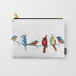 5 Birds Carry-All Pouch