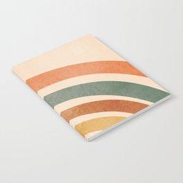Retro Rainbow Notebook