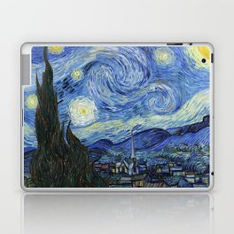 1889-Vincent van Gogh-The Starry Night-73x92 Laptop & iPad Skin