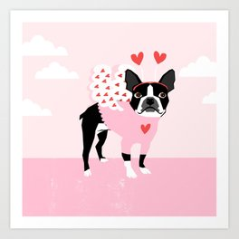 Boston Terrier love bug valentine day dog breed pet gifts dog lover must have Art Print