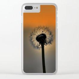 Dandelion Sunset landscape v3 Clear iPhone Case